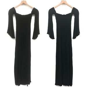 Blue Life Black Maxi Dress w/ Sleeves - Size M